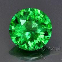 round bright green garnet tsavorite