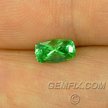 cushion tsavorite bright green