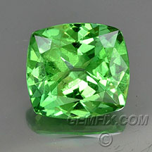 cushion tsavorite garnet light green