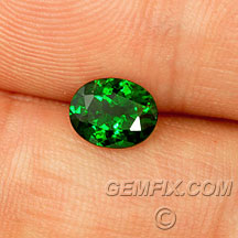 oval green tsavorite garnet