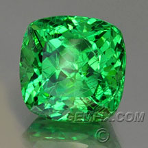 green blue tsavorite garnet cushion
