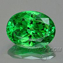 green garnet tsavorite oval