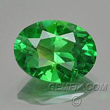 green garnet oval