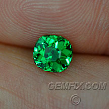 cushion green tsavorite