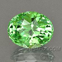 mint green garnet oval