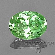 oval green merelani garnet