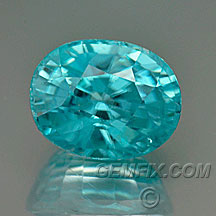 blue zircon oval
