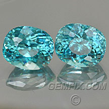 blue zircon matched pair