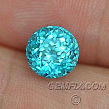 paraiba color blue zircon round