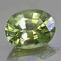 yellow green zircon oval