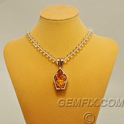 Citrine gem intrusion shield pendant gemfix white gold pendant with large designer cut fancy citrine aloadofball Choice Image
