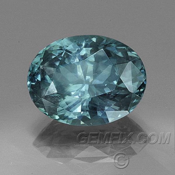 Montana Sapphire Unheated Blue Green Oval